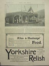 1898 PRINT ~ HER MAJESTY AT BRAEMAR GATHERING ~ YORKSHIRE RELISH ADVERT