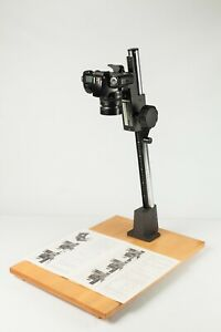 Copy Stand + Camera Mount, Baseboard & Column. Meopta Photo. Excellent Condition