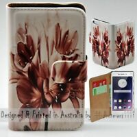 For OPPO Series - Vintage Flower Theme Print Wallet Mobile Phone Case Cover