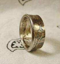 Coin ring made from   Silver Walking Liberty Half Dollar in size 8-14