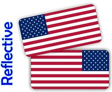 REFLECTIVE American Flag Hard Hat | Motorcycle Helmet Decals Stickers Flags USA