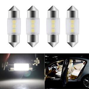 4X 3175 31MM LED Bulb Dome Map Trunk Light 3-SMD Bright Festoon for Kia Forte