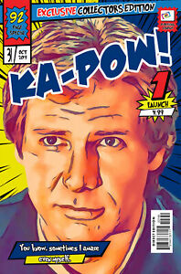 Hans Solo Comic Book Covers Art Print (Available In 4 Formats)