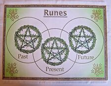 Ivy Rune Casting Mat for use with Runes, Wiccan, crystals divination, Druid.