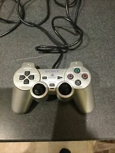 Official Sony PlayStation PS2 DualShock Controller Silver Dual Shock