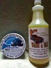 Ron's Original 100% Carnauba Wax and Ultra Shine Wash Combo Package