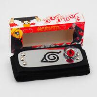 Hot Anime NARUTO Uchiha itachi Zhu Ring+Kakashi Konoha Headband 2Pc Cosplay Gift