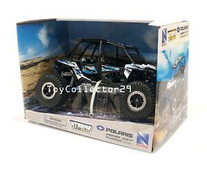 Toy Polaris RZR XP 4 Turbo EPS Rock Crawler White SxS UTV New Ray 1:18 Scale