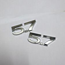 2x Plastic 5.7 Chrome  ABS Sticker Badge Emblem Land suv v8 vxr cruiser Sport 3D