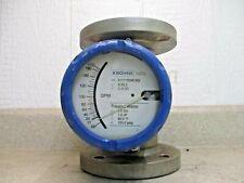 Krohne 3 Ss Flowmeter H250rrn140 0 170 Gpm 571024h Used