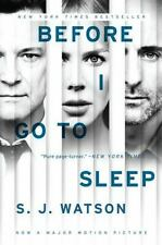 Before I Go to Sleep by S. J. Watson (2014, Paperback, Movie Tie-In)