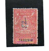 Argentina valor Fiscal del año 1926-27 (AO-128)