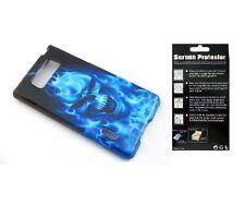 Screen Protector + Blue Fire Case for LG Splendor Venice US730 LG730 AS730 LS730