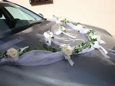 Autoschmuck, Autogirlande Rose creme, Hochzeit, neu