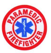 "Firefighter Decal/Sticker Round Paramedic Firefighter 1.75"""