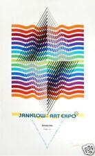 Léonard JANKLOW (1919-2009) Sérigraphie 1980 Signée 101x64cm cinetique Op art