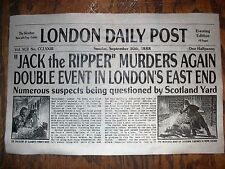 "NOVELTY POSTER HALLOWEEN JACK the RIPPER LONDON SERIAL KILLER 18""x30"" (114)"
