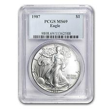 1987 Silver American Eagle MS-69 PCGS - SKU #9253