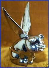 Winged FLYING HOG, PIG CHROME METAL HOOD ORNAMENT. New