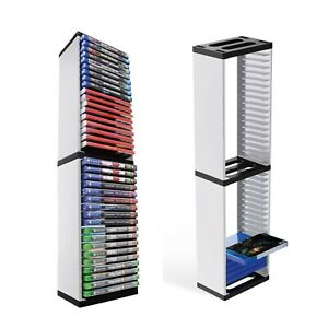 ABS Game Disc Tower Stand DVD media Storage Holder Host Rack For PS5 Games