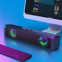 RGB Computer Speaker Loudspeakers Stereo Subwoofer Sound Bar for PC Laptop New