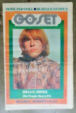GO-SET Vintage Magazine July 12 Vol 4 No 28 1969 Brian Jones Beatles Stones