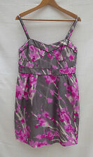 Principles floral print sleeveless silk outer lined dress Size 14