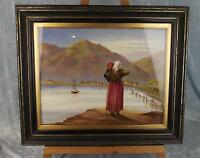 Fine Framed 19th Century Oil On Porcelain Plaque Portrait Of A Lady, Signed