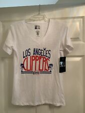 NWT Los Angeles Clippers NBA 4 Her by UNK White V-Neck Women's Large
