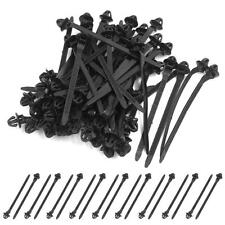 50x 11mm Hole Cable Wire  Style Car Trailer Zip Ties Wrap Push Rivets Clips .