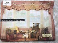 Vogue Patterns For Living 1856 Window Treatments Valance Drapes Susanna Stratton