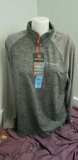 Free Country Mens Gray/Orange Ultimate Comfort Pullover L Nwt!