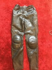 "Ladies Leather Motorcycle Trousers Size 30"" Waist (10-12), VGC"