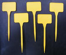 50 x Pflanzschilder gelb 15cm Etiketten Etichette Pflanzenschilder