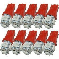 10X T10 LED Red 5 SMD 5050 W5W 194 168 2825 Car Interior Wedge Light Bulbs Lamp