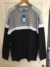 NEW ADIDAS MENS ADIDAS ITASCA CREW NECK SWEATER WITH TAGS