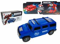 ROBOT TRANSFORMER CAR ROBOT HUMMER WARRIOR PRO BUMP N GO CAR LIGHTS & MUSIC