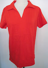 MICHAEL SIMON LIGHT Red Short Sleeve polo Shirt size M, NEW