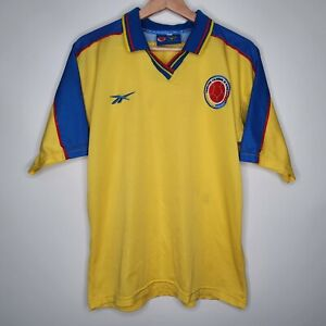 Colombia Reebok Vintage Home Soccer futbol Jersey Size Medium Men's