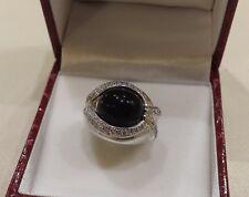anello donna oro BIANCO  e ONICE  con zirconi      Gr. 12.10