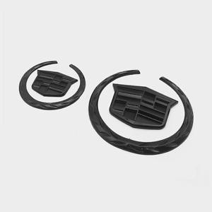 2x Black Cadillac Front Grille Rear Trunk Lid Badge Emblem for Escalade SRX XTS