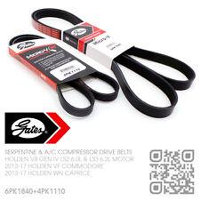 GATES MICRO-V DRIVE & A/C BELTS V8 LS2 6.0L & LS3 6.2L MOTOR [HOLDEN WN CAPRICE}