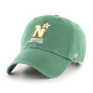 Minnesota North Stars 47 Brand Clean Up Adjustable Vintage Strapback Hat Dad Cap