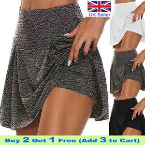 Women Sport Skort Gym Yoga Ladies Shorts High Waisted Mini Skirt Dress Plus Size