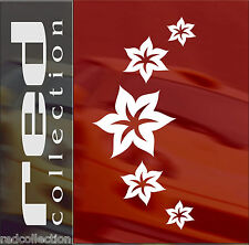 redcollection AUTO AUFKLEBER Car Tattoo Sternblume V03  15 Blumen V03 Sticker