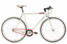 "Fitness Bike ""Essence"" Fixed Gear 28"" White Frame 56 cm KS Cycling New 390B"