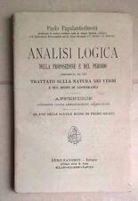 ANALISI LOGICA DELLA PROPOSIZIONE E DEL PERIODO 1909 PAPALARDO ONESTI