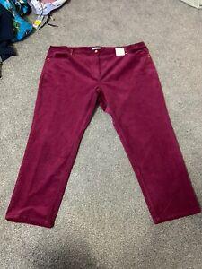 Per Una Roma Rise Slim Leg Cord Trouser Size 24 Short BNWT Free Sameday P&p
