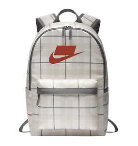 Nike Heritage 2.0 Backpack Bag Rucksack Size L BA5880-030 Tan/White/Gray New