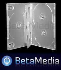 10 x Clear 14mm ** HOLDS 5 Discs ** Quality CD / DVD Cover Cases